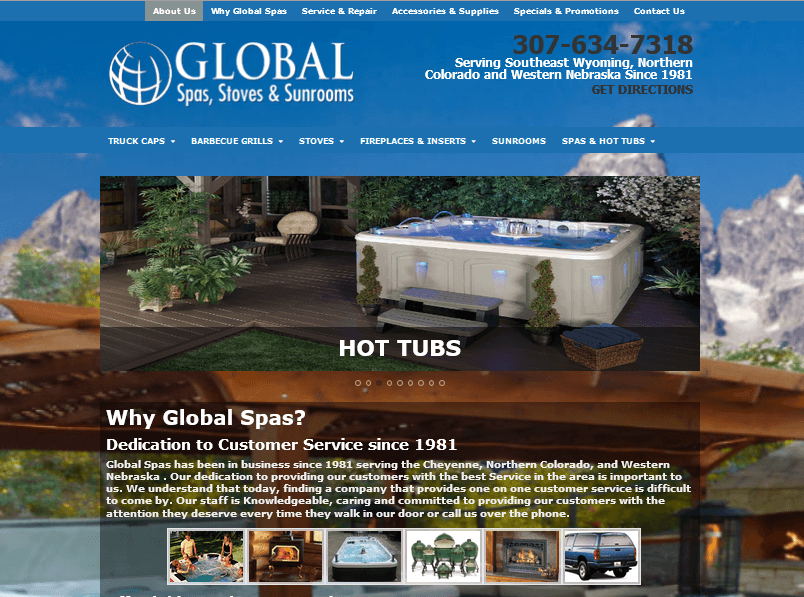 Global Spas Website